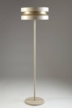 Floor lamp designed by Lisa Johansson-Pape for Stockmann-Orno (enameled steel). Brass Floor Lamp, Modern Floor Lamps, Lamp Design, Lighting Design, Cozy Apartment Decor, Contemporary Lamps, Desk Lamp, Table Lamps, Pendant Lamp