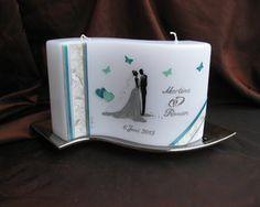 Hochzeitskerze Liebespaar handgemalt #Hochzeitskerzen #wedding #candle #Kerzen