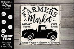 Farmers Market 4 SVG example image 1 Farm Fonts, Farmers Market Sign, Farm Art, Antique Signs, Flower Making, Design Bundles, School Design, Free Design, Design Elements