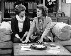 Ann Romano (Bonnie Franklin) and her mother (Nanette Fabray) try their hand at reading tarot cards on One Day at a Time (CBS, 1975-1984). The show was created by Whitney Blake and Allan Manings, a husband-and-wife writing duo who were both actors in the 1950s and 1960s. The show was based on Whitney Blake's own life as a single mother, raising her child, future actress Meredith Baxter. Franklin's character, Ann Romano, is often incorrectly cited as network television's first female divorcee as a regular series character. However, this now goes to Vivian Vance's character Vivian Bagley on The Lucy Show, from 1962-1965. (Wikipedia) Photo: Tom Buckley collection | Ask A Question | Tumblr Archive Special Collections in Mass Media and Culture