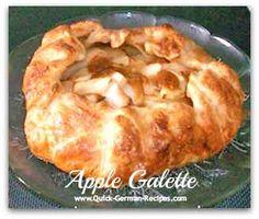 Caramel Apple Galette -- such an easy and elegant dessert! http://www.quick-german-recipes.com/apple-galette.html
