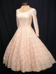 Pink 1950's Vintage Wedding Dress