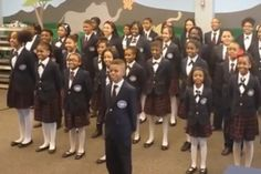 "Watch an Adorable Children's Choir Perform Pharrell's ""Happy"" Happy Gif, Happy Video, International Day Of Happiness, Music Classroom, Cute Kids, Singing, Choirs, Challenges, Songs"