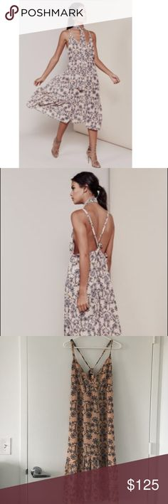 For Love & Lemons Pia Dress In pale peach, this dress is light weight and flows, in like new condition For Love and Lemons Dresses Midi