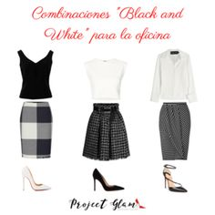 """Combinaciones """"Black and White"""" para la oficina — Project Glam Lawyer Outfit, White Outfits, Office Outfits, Glamour, Street Style, Boutique, Black And White, My Style, How To Wear"""