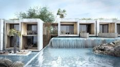 Combining key aspects of Mediterranean architecture with tropical elements, the five-star Olea All Suite Hotel on Zakynthos is opening its doors for the Hotel Architecture, Mediterranean Architecture, Architecture Details, Beach Hotels, Hotels And Resorts, Greece Hotels, Hotel Concept, Hotel Suites, Tulum