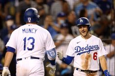 Dodgers pump up the volume to sweep Diamondbacks Justin Turner, Dodgers Baseball, Ml B, World Series, Champs, Baseball Cards, Sports, Tops, Hs Sports