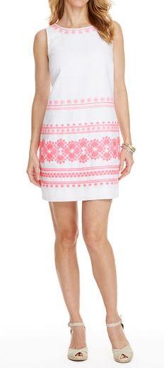 5858e63886 Shop Caribbean Floral Embroidered Linen Dress at vineyard vines. Lucie White