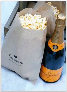 DIY Popcorn Bags For A Mother's Day Outdoor Party (via prettyfluffy)