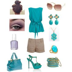 Regal Teal, created by sandra-mason on Polyvore