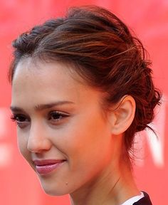 Jessica Alba French Braid Hairstyle