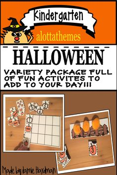Check out this SPOOKtacular Halloween package full of fun math activities. Use them during center time, morning work, or small group work. A great way to bring in the spirit of Halloween! Kindergarten Math Activities, Alphabet Activities, Fun Activities, Learning Numbers, Math Numbers, Halloween Math, Group Work, Morning Work, Number Sense
