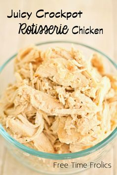 Free Time Frolics: Best Crock pot Rotisserie Chicken you have ever eaten!