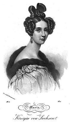Königin Maria von Sachsen, geborene Prinzessin Maria Anna von Bayern - 1837