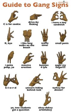 Guide to Gang Signs bahahahaha omg lol! Gangsters, Anuel Aa Wallpaper, Blood Wallpaper, Doug Funnie, Funny Quotes, Funny Memes, Funniest Jokes, Funny Statuses, True Memes