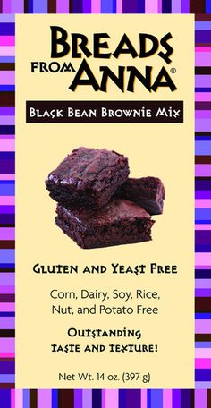 Breads from Anna — Black Bean Brownie Mix — Gluten, Yeast, Corn, Dairy, Soy, Nut and Rice Free!