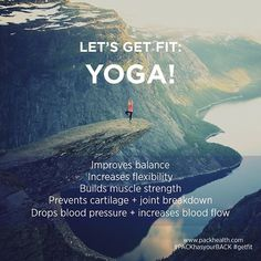 Yoga isn't just for hikers and health nuts! Stay tuned for our new series-- Get Fit: Yoga! -- and learn how to incorporate yoga moves into your daily life. #yoga #PACKhasyourBACK #getfit