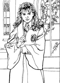 Harry Potter Coloring Pages Printable Can Give Sheets To Be Colored