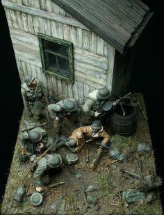 """""""Prey"""" 1/35 scale, WW2 German Waffen-ss soldiers vignette. By Johan Fohlin."""
