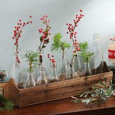 Glass Bottle Vase Runner Set | Kirklands