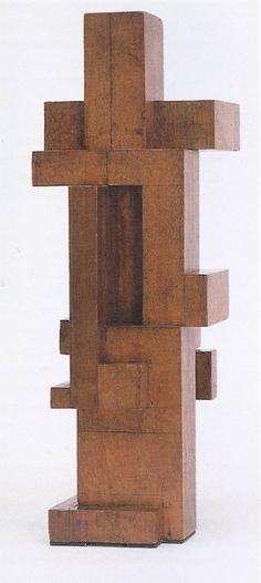 phileas69:  Georges Vantongerloo Rapport de volumes / Construction of volume relations Acajou / Mahogany 41 x 14.4 x 14.4cm 1921