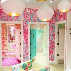 Lilly Pulitzer Dressing Rooms at the Palm Beach Gardens Store