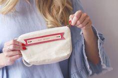 5 Gifts, Great Gifts, Bridesmaid Gifts, Bridesmaids, Pink Accents, Little Bag, Cotton Bag, Zipper Bags, Line Design