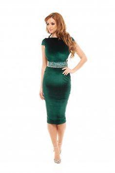 Rochie StarShinerS Diva Style Green