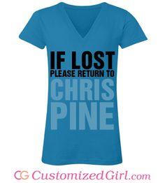 94a5feee Custom tees from Customized Girl #chrispine Customized Girl, Chris Pine, Custom  Tees,