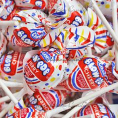 Cherry Blow Pops from Temptation Candy. #BlowPops #CherryCandy #Lollipops