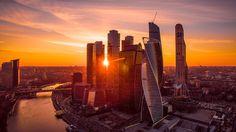 Московский международный деловой центр «Москва-Сити» -  На закате