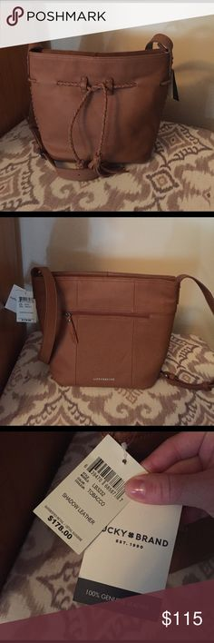 Lucky Brand Handbag Chestnut genuine leather Lucky Brand Handbag. Brand New With Tags! Super cute mid sized cross body purse. Braided up the sides, adjustable length strap. Open to reasonable offers! Lucky Brand Bags Crossbody Bags