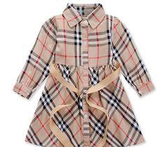 Toddler Little Girls Burberry Inspired Plaid Dress $26