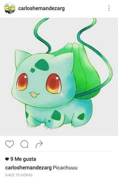 Bulbasaur w/ strawberry. Honestly, bulbasaur and his evolutions are my favorite pokemon. This particular artwork is a very cute version of him. Pokemon Go, Pokemon Bulbasaur, Alolan Vulpix, Baby Pokemon, Pokemon Birthday, Pokemon Pins, Pokemon Funny, Pokemon Stuff, Pokemon Fusion