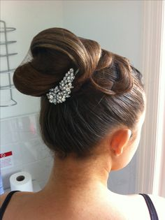 Ballroom hair. Very whispy looking. I like the softness, but I wonder how it will hold.