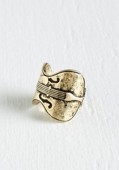 Whole Sonata Love Ring. Compose a look of resounding elegance around this cello-inspired ring! #gold #modcloth