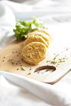 Fried Green Tomatoes with Red Onion