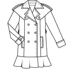 Burdastyle 08-2009-101 Trench coat