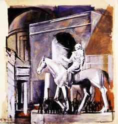 Mario Sironi - Führer zu Pferd