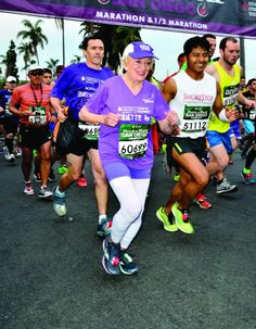 91 and still racing marathons! Harriet Thompson is our inspiration to get moving today!