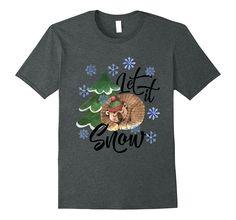 Let It Snow Comfy Christmas T-Shirt! Bear Dreaming of Snow Comfy, Snow, Bear, Mens Tops, Christmas, T Shirt, Stuff To Buy, Xmas, Supreme T Shirt