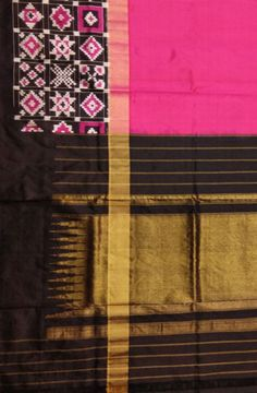 Pink Handloom Ikat Pure Silk Saree  Saree#ikat#puresilksaree#traditionalsaree#loveforsari#festivalcolors#partywear#Ikatsaree#