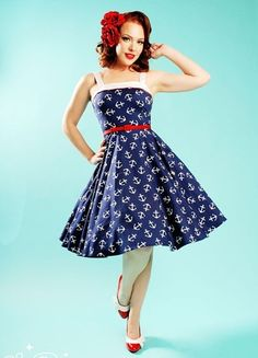 Pinup Couture in the navy