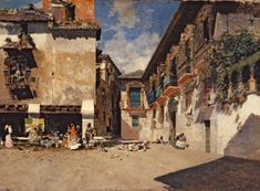 Mariano Fortuny~The Old Town Hall in Granada Granada, Hermitage Museum, Virtual Art, Spanish Painters, European Paintings, Art Academy, Town Hall, Art Google, Love Art
