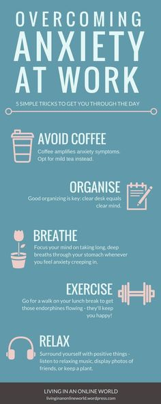 5 easy steps to help you cope with anxiety at the workplace!