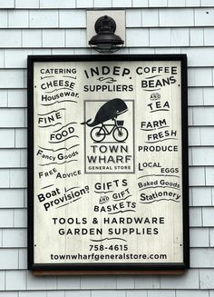 Town Wharf General Store signage. Mattapoisett, MA
