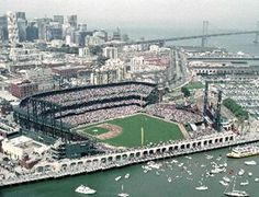 SF Giants Stadium.      Very fun stadium.    Stadium wise, Seattle's is a better stadium, but this is the best location sitting on the bay.