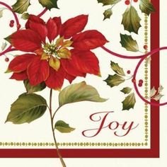 Joyful Poinsettia 3-Ply Christmas Paper Luncheon Napkins 16 Per Pack by Creative Converting. $2.99. Design is stylish and innovative. Satisfaction Ensured. Manufactured to the Highest Quality Available.. Creative Converting is a leading manufacturer and distributor of disposable tableware including high-fashion paper napkins plates cups and tablecovers in a variety of solid colors and designs appropriate for virtually any event.