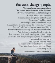 You Can't Change People