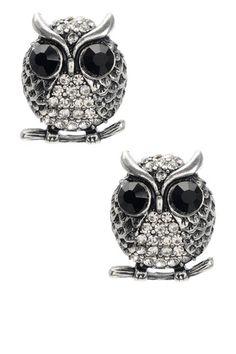 Owl Earrings by Non Specific on @HauteLook